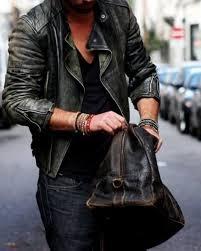 photo supplied khaki leather jacket