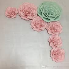 Paper Flower Photo Booth Backdrop 7pcs Baby Pink Tiffany Giant Paper Flowers For Girls Party Wedding Decor Or Photo Booth Backdrop Or Wedding Backdrops 30 60cm