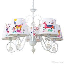oovov child room cartoon crystal chandelier white iron cloth for kids room baby room bedroom pendant light lamp multi light pendant brass ceiling lights