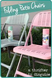 spray painting metal furnitureA Thrifter in Disguise DIY Metal Folding Patio Chairs Makeover