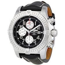 breitling super avenger black dial black leather strap chronograph men s watch a1337011 b973bklt item no a1337011 b973