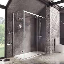 decem sliding door with square hardware shower enclosure