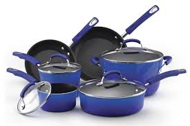 rachael ray pan set. Contemporary Ray Rachael Ray Blue Porcelain Cookware In Rachael Ray Pan Set D