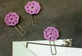 Flower Paper Clips Crochet Flower Paper Clip Toppers Allfreecrochet Com