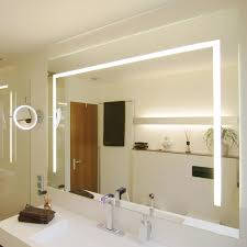 Light On Top Of Mirror Mirror In Custom Made Sizes Build In Light Lampefeber