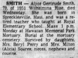Alyce Smith Death 1983 - Newspapers.com