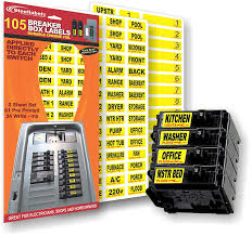 Siemens Breaker Box Compatibility Chart Circuit Breaker Decals 105 Tough Vinyl Labels For Breaker Panel Boxes Great For Home Or Office Apartment Complexes And Electricians Placed