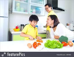 Family Kitchen Asian Family Kitchen Lifestyle Picture