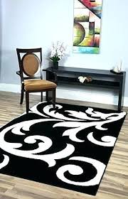 black and white damask rug super area rugs metro 5 feet by 8 designer bathroom floor runner