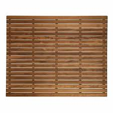 teak bath mat 36in x 30in