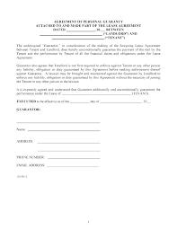 Credit Guarantee Agreement Template Guaranty Student Loan Form