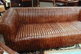 vintage leather couch. Unique Sofa In Vintage Style. It Is Upholstered With High Quality Leather And Finished Couch