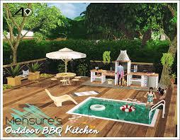 sims 4 kitchen design. 3t4 mensure bbq outdoor kitchen set sims 4 design