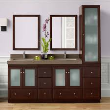 double bathroom vanity set with linen cabinet hayneedle