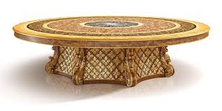 s01 round table luxury classic table with lazy susan with briar wood inlays