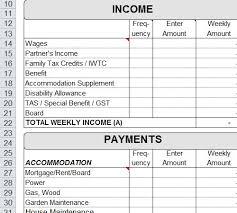 Free Sample Weekly Budget Worksheet Excel