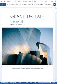 Coverpage Template Grant Proposal Template