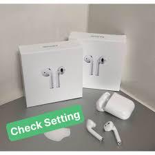 Tai nghe Bluetooth Airpods 2 (Tai Nghe TWS Airpod 2) Đổi Tên - Định Vị ,Và  Vỏ ốp lưng Case Airpod Airpods 1 2 Iphone - Tai nghe Bluetooth nhét Tai  Thương hiệu No Brand