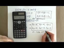 scientific calculator solving systems