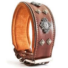 the aztec genuine leather big dog collar