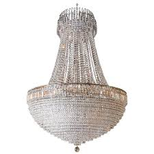 french empire style crystal chandelier large in scale for