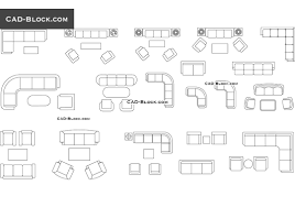 couches and sofas in plan cad blocks autocad file