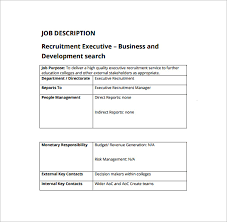 Executive Recruiters Job Description Executive Recruiters Job Description Under Fontanacountryinn Com