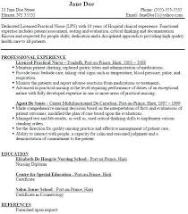 Lpn Nursing Resume Examples Examples Of Resumes