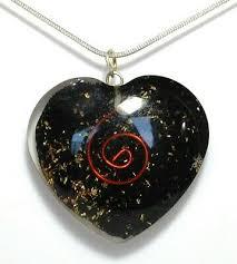 shungite gemstone orgone heart pendant
