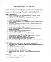 Sample Warehouse Worker Resume 9 Examples In Word Pdf