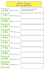Sample Personal Timeline Beauteous Timeline Template For Life My Mac Kids 44 Year Plan Pdf Family