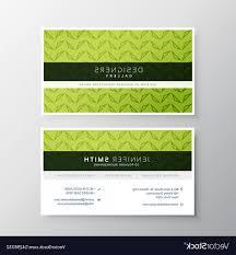 Green Card Template Modern Green Business Card Template Vector Soidergi
