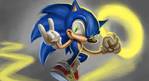 Easy Things To Paint Sonic The Hedgehog Speed Painting Easy Things To Draw Youtube