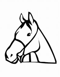 Small Picture Horse Head Coloring Pages
