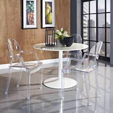Full Size of Tables & Chairs, Magnificent acrylic dining set white round  glossy dining table ...