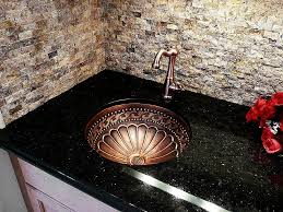 Kitchen Sinks For Granite Countertops Kitchen Glittering Black Granite Countertop With Under Mount