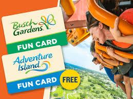 busch gardens 2019 fun card plus