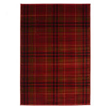highland tartan rug in red red plaid rag rugs