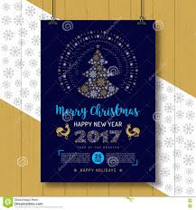 christmas poster happy new year rooster 2017 party flyer placard christmas poster happy new year rooster 2017 party flyer placard