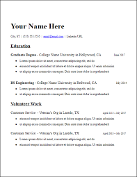 Education Resume Templates Amazing No Work Experience Resume Templates Free To Download HirePowersnet