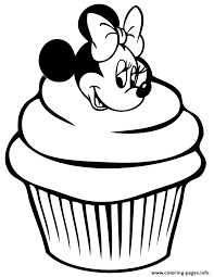 Small Picture minnie mouse cupcake Coloring pages Printable