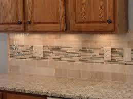 kitchen glass mosaic backsplash. Subway Tile And Mosaic Backsplash Beautiful Kitchen Made Beige Ceramic Tiled Mixed Glass