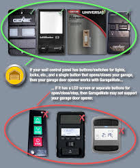 what is the name of liftmaster garage door opener wall on flashing for
