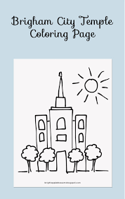 Small Picture Brigham City Temple Coloring Page bright apple blossom