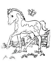 Coloring Pages Of Horses Running Coloring Page Of A Horse Coloring