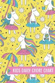 Kids Daily Chore Chart Unicorn Weekly Checklist Task Family
