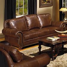 Furniture Leather Couch With Studs Nailhead Sofa Tufted - All leather sofa sets