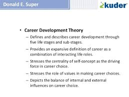 from super to savickas a review of career theory its application  3 • career development