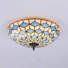 glass bowl shade ceiling mount light