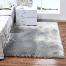 black faux fur area rug large white 5 colors french furniture licious decor fluffy gray